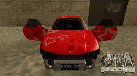 Nissan Skyline R33 Drift Red Star для GTA San Andreas колёса
