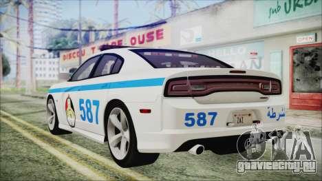 Dodge Charger SRT8 2012 Iraqi Police для GTA San Andreas вид слева
