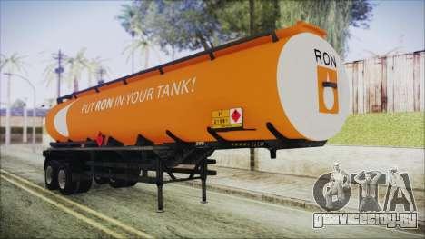 GTA 5 RON Tanker Trailer для GTA San Andreas