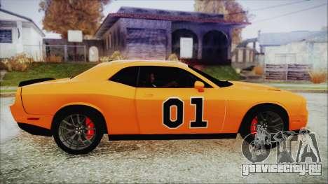 Dodge Challenger SRT 2015 Hellcat General Lee для GTA San Andreas вид сзади слева