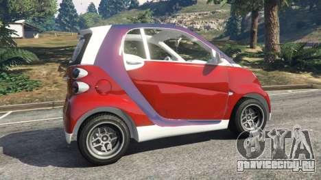 Smart ForTwo 2012 v0.1 для GTA 5 вид сзади справа