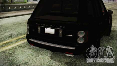 Range Rover Sport для GTA San Andreas вид сзади