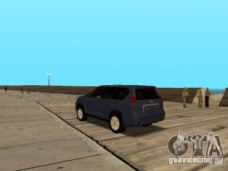 Toyota Land Cruiser Prado для GTA San Andreas вид сзади слева