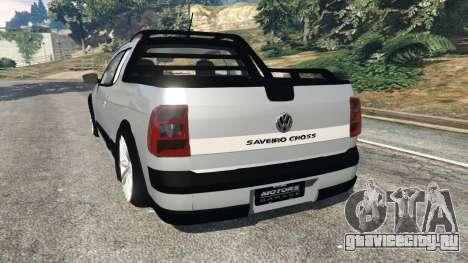 Volkswagen Saveiro G6 Cross для GTA 5 вид сзади слева
