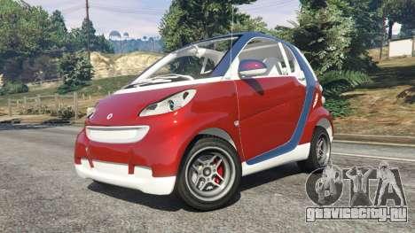 Smart ForTwo 2012 v0.1 для GTA 5 вид справа