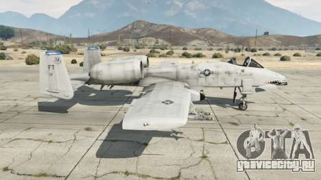 Fairchild Republic A-10A Thunderbolt II v1.2 для GTA 5 второй скриншот