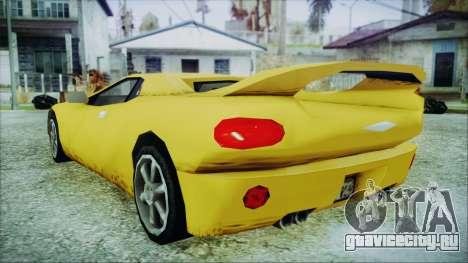 Gangsta Infernus для GTA San Andreas вид слева