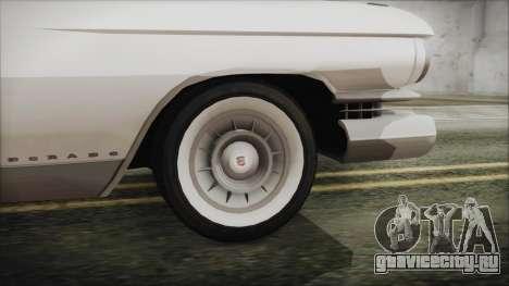 Cadillac Eldorado Biarritz 1959 для GTA San Andreas вид сзади слева