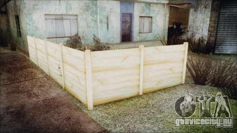 Wooden Fences HQ 1.2 для GTA San Andreas четвёртый скриншот