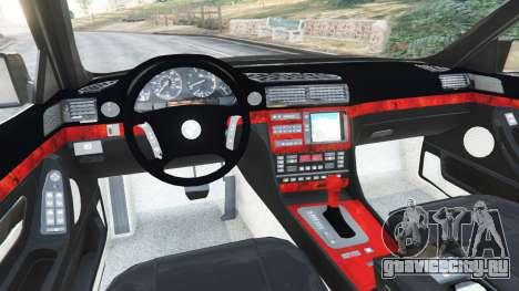BMW L7 750iL (E38) для GTA 5 вид сзади справа