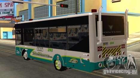 Lazcity Midibus Stylo Colombia для GTA San Andreas вид слева