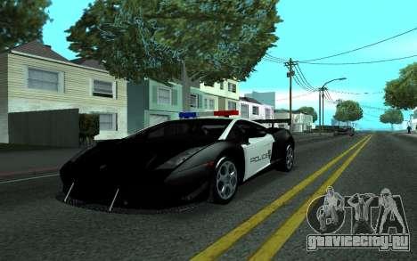 Lamborghini Gallardo Tunable для GTA San Andreas вид сзади слева