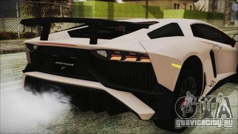Lamborghini Aventador SV 2015 для GTA San Andreas вид сверху