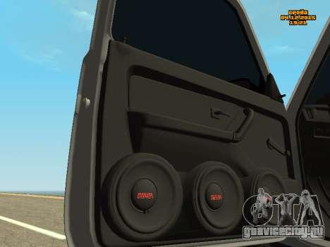 ВАЗ 2123 Нива Автозвук для GTA San Andreas вид сзади