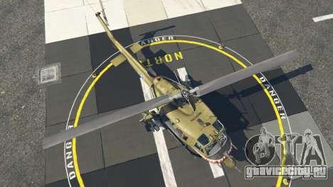 Bell UH-1D Iroquois Huey Gunship для GTA 5 четвертый скриншот