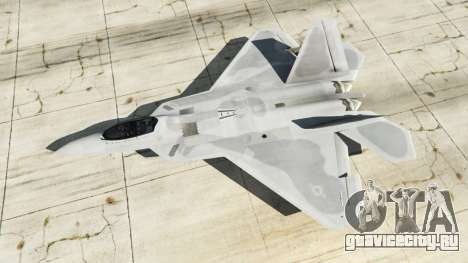 Lockheed Martin F-22 Raptor для GTA 5 четвертый скриншот