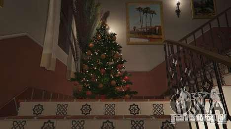 Новогодние украшения для дома Майкла для GTA 5 четвертый скриншот