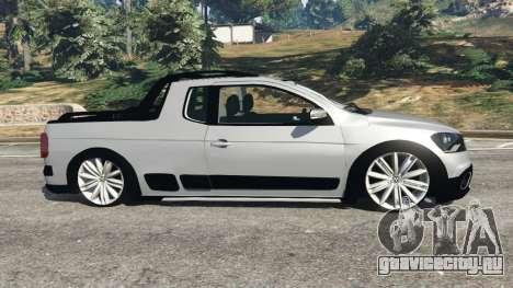 Volkswagen Saveiro G6 Cross для GTA 5 вид слева