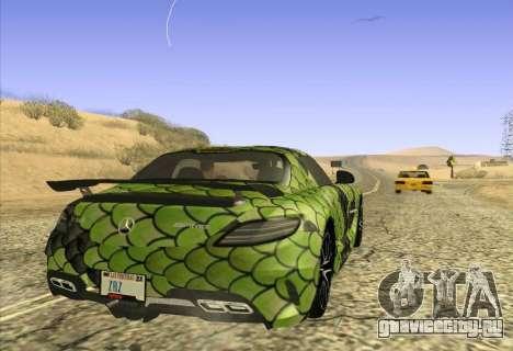 Mercedes-Benz SLS AMG Snake для GTA San Andreas вид сзади слева