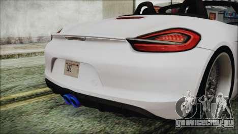 Porsche Boxster GTS 2016 для GTA San Andreas вид сзади