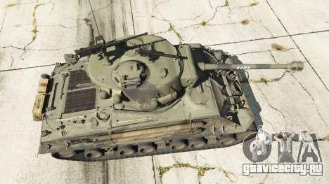 M4A3E8 Sherman Fury для GTA 5 вид сзади