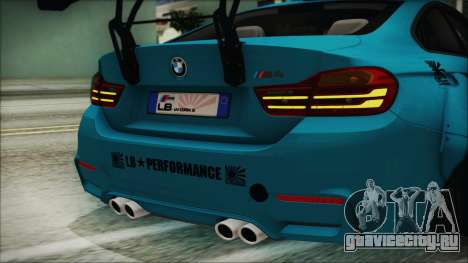 BMW M4 2014 Liberty Walk для GTA San Andreas вид изнутри