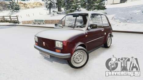 Fiat 126p v1.2 для GTA 5 вид справа