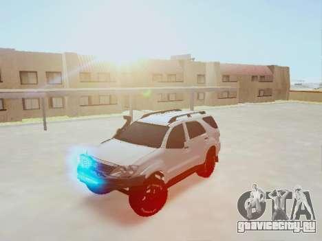Toyota Fortuner 2012 TRD Off-Road для GTA San Andreas вид сзади