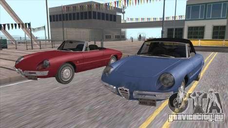 1966 Alfa Romeo Spider Duetto [IVF] для GTA San Andreas вид изнутри