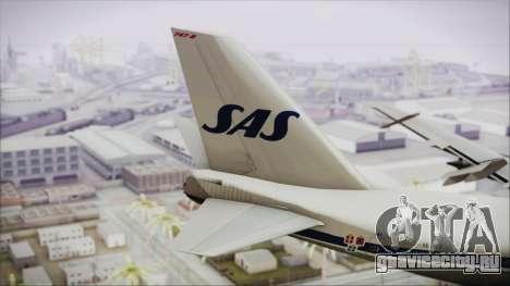 Boeing 747-283BM Scandinavian Airlines для GTA San Andreas вид сзади слева