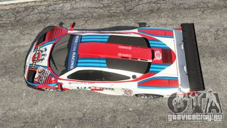 McLaren F1 GTR Longtail [Martini Racing] для GTA 5 вид сзади