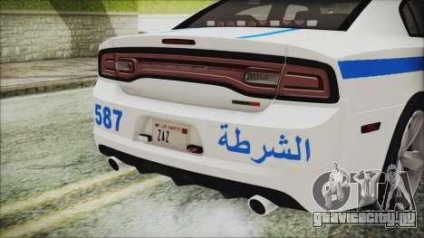 Dodge Charger SRT8 2012 Iraqi Police для GTA San Andreas вид изнутри