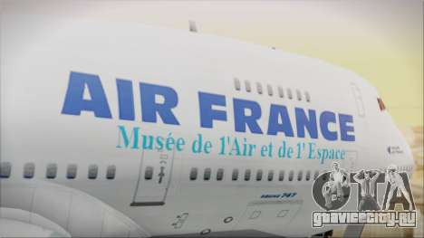 Boeing 747-128B Air France для GTA San Andreas вид сзади