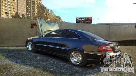 Mercedes CLK55 AMG Coupe 2003 для GTA 4 вид сверху