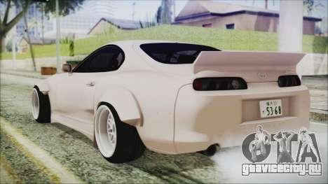Toyota Supra JZA80 RocketBunny для GTA San Andreas вид слева