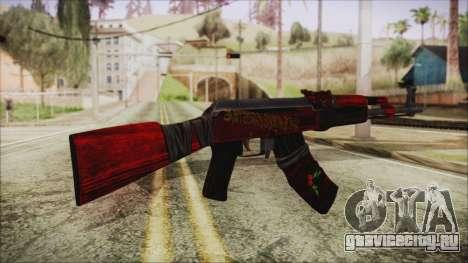 Xmas AK-47 для GTA San Andreas второй скриншот