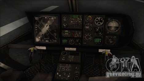 Batman Arkham Knight Police-Swat Helicopter для GTA San Andreas вид справа