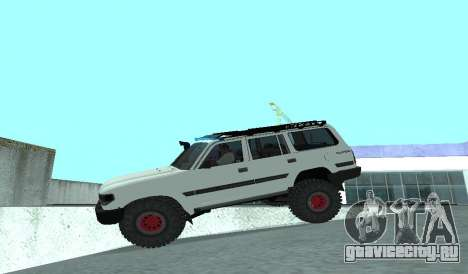 Toyota Autana 4500 off-road LED для GTA San Andreas вид изнутри
