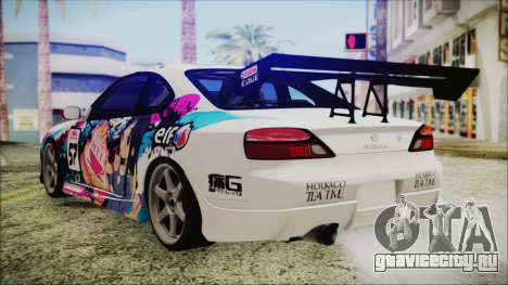 Nissan Silvia S15 Itasha Beta для GTA San Andreas вид слева