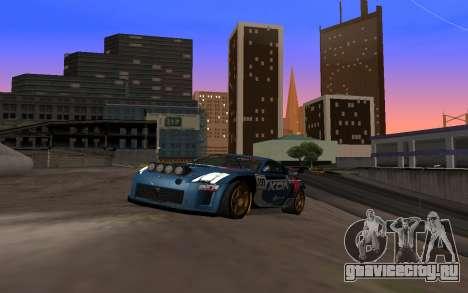 Nissan 350Z Rally для GTA San Andreas вид сзади