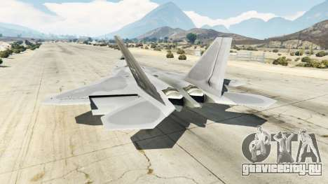 Lockheed Martin F-22 Raptor для GTA 5 третий скриншот