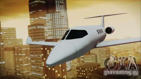 Enterable Customized Shamal для GTA San Andreas вид сзади слева