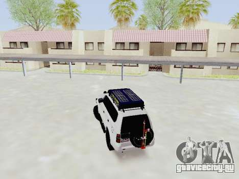 Toyota Land Cruiser Prado off-road LED для GTA San Andreas вид сзади слева