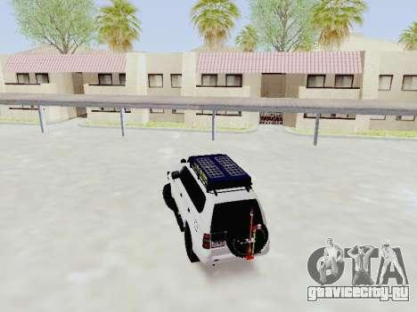 Toyota Land Cruiser Prado off-road LED для GTA San Andreas вид сзади слева