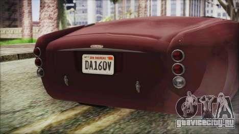 GTA 5 Declasse Mamba IVF для GTA San Andreas вид сзади