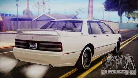GTA 5 Albany Primo Custom для GTA San Andreas вид слева