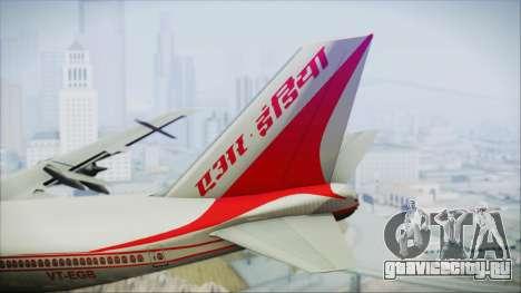 Boeing 747-237Bs Air India Mahendra Verman для GTA San Andreas вид сзади слева