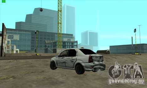 Renault Logan для GTA San Andreas вид сбоку