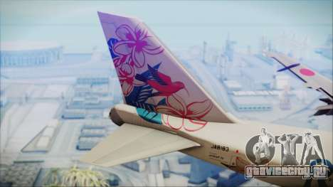 Boeing 747-300 Japan Airlines Resocha для GTA San Andreas вид сзади слева