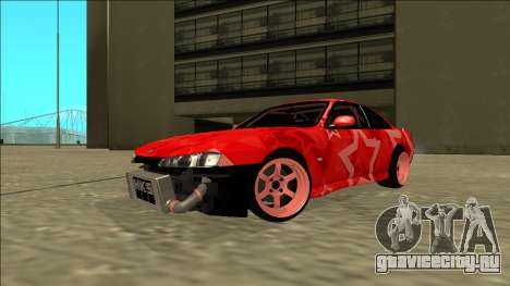 Nissan Silvia S14 Drift Red Star для GTA San Andreas вид справа